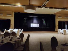 Setup on stage